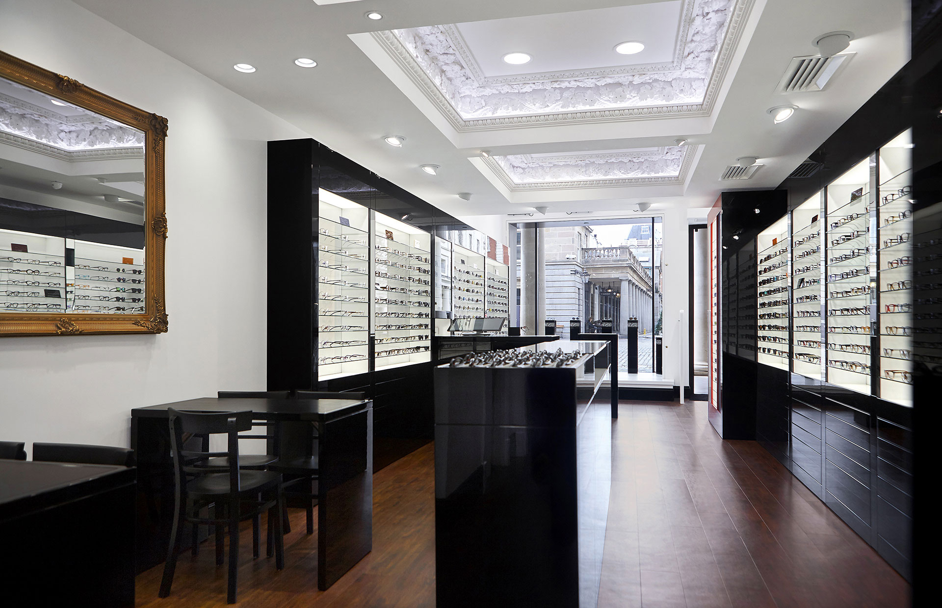 Shop floor of Tom Davies Bespoke Opticians in Covent Garden