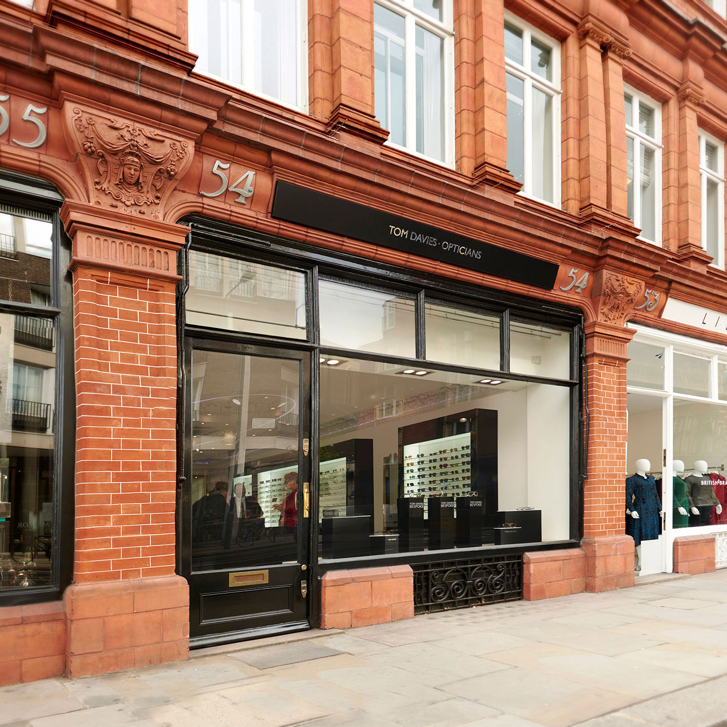 Tom Davies Bespoke Opticians in Sloane Square