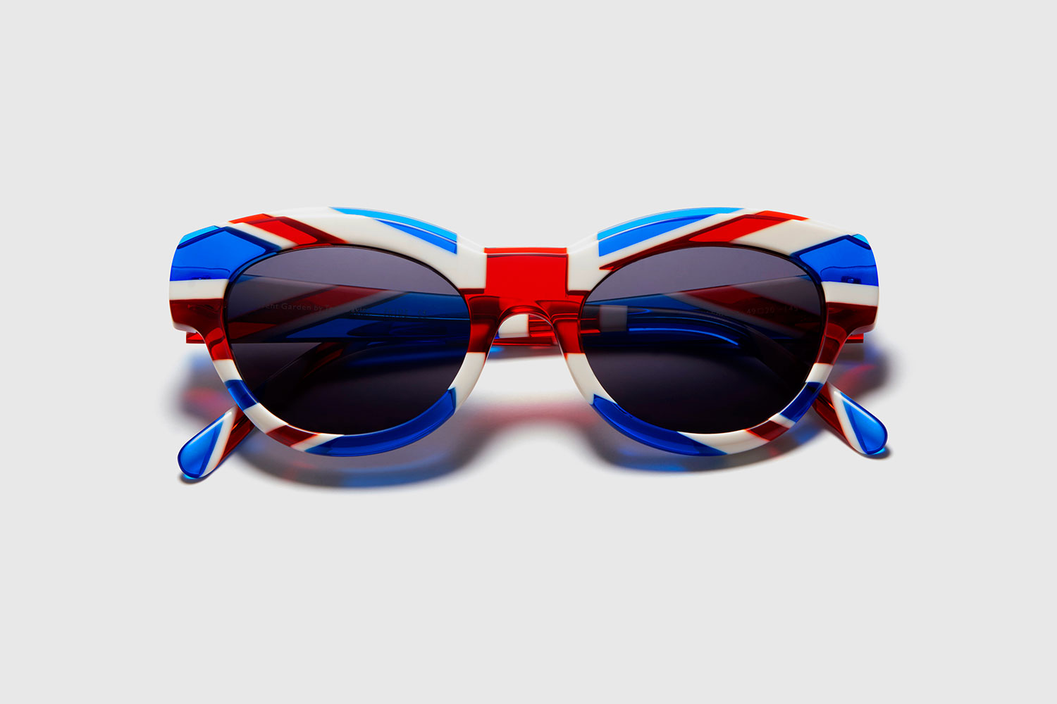 Union Jack sunglasses designed by British eyewear designer Tom Davies