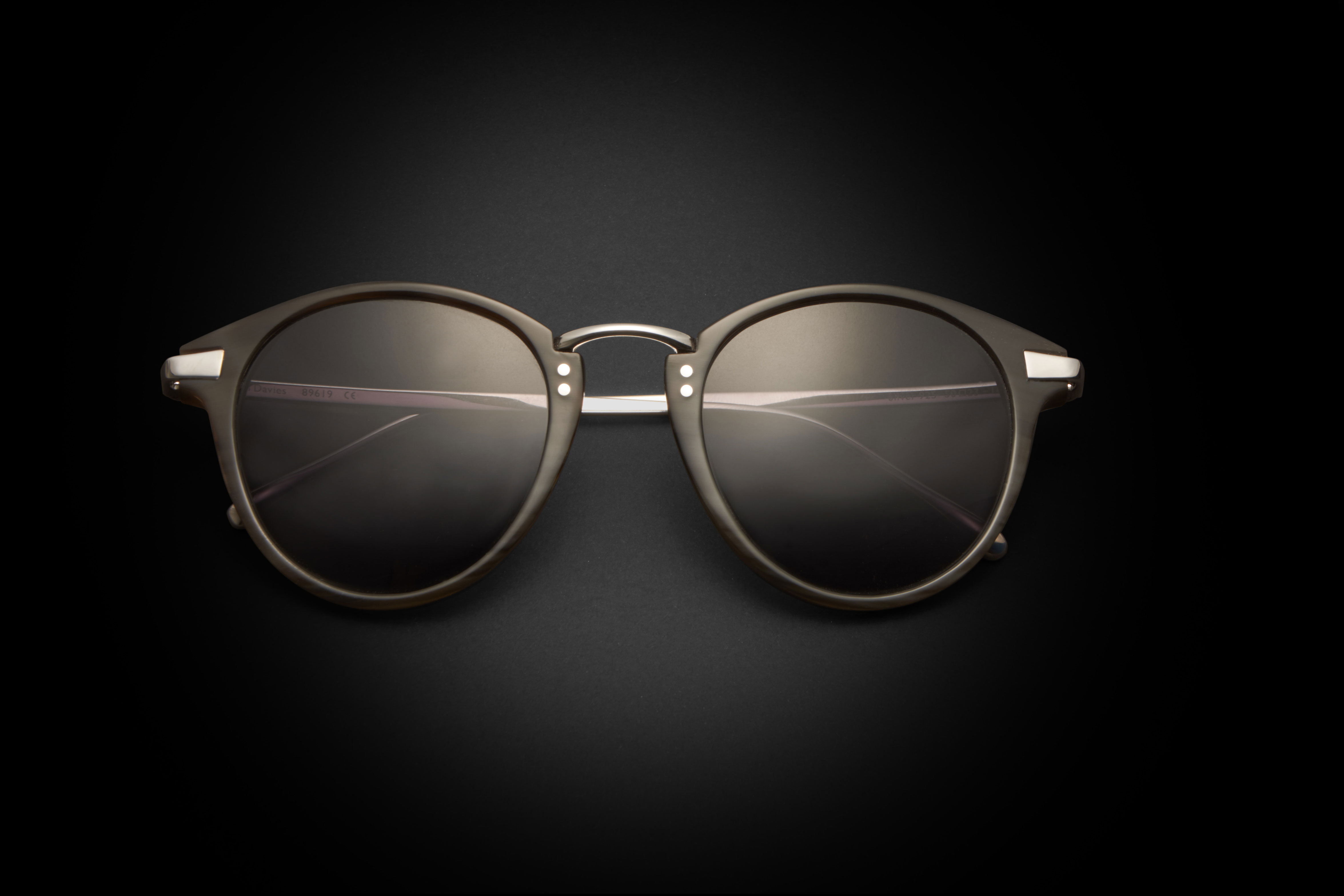Natural horn and silver 925 combination sunglasses from the Tom Davies Precious Collection