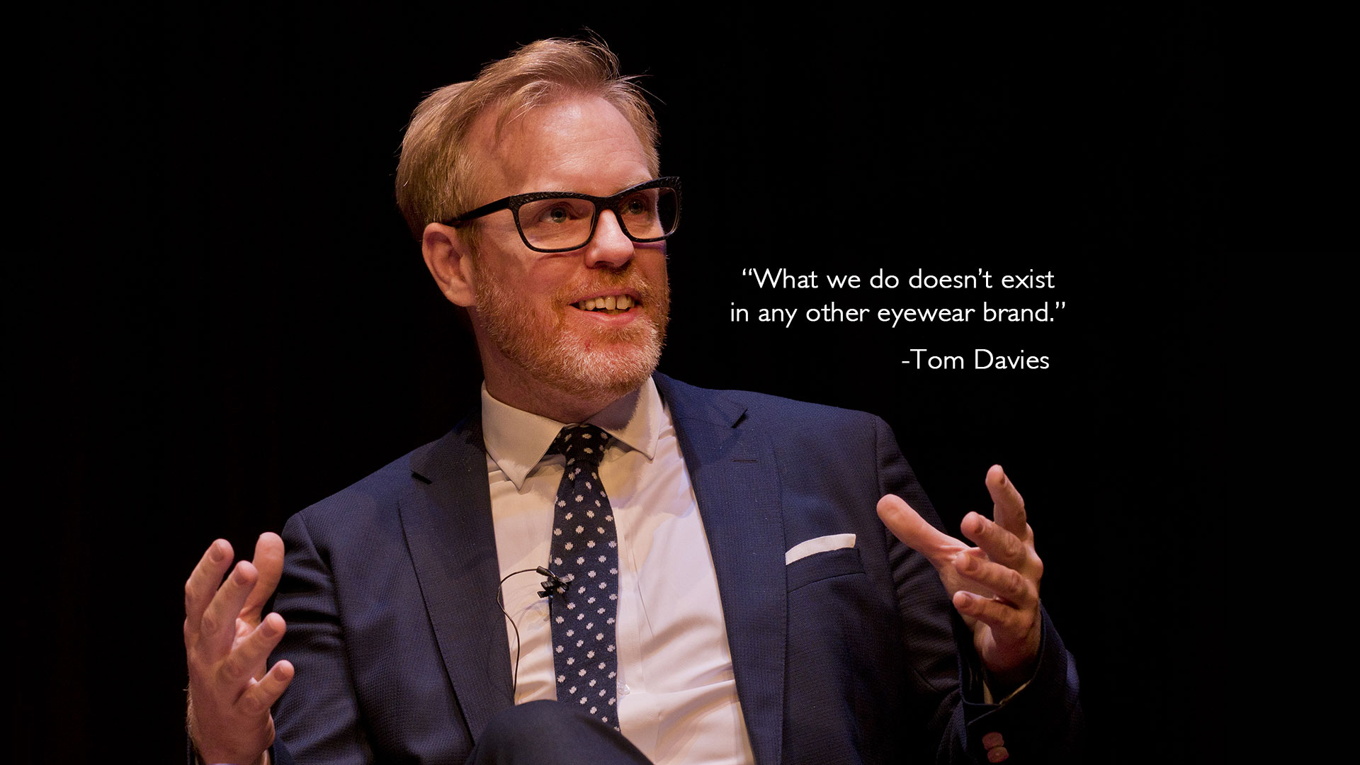British eyewear designer Tom Davies talking about his brand and bespoke service