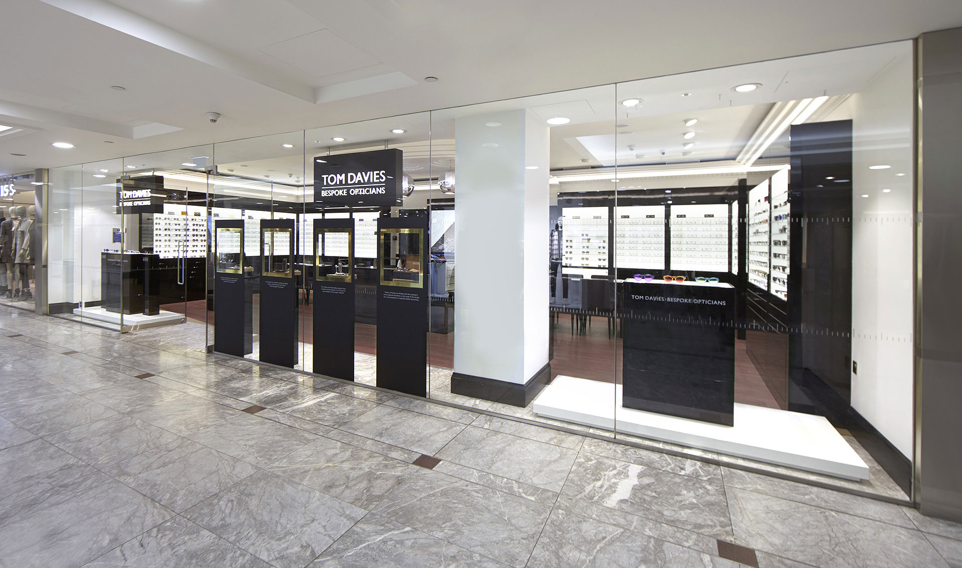 Tom Davies Bespoke Opticians in Canary Wharf