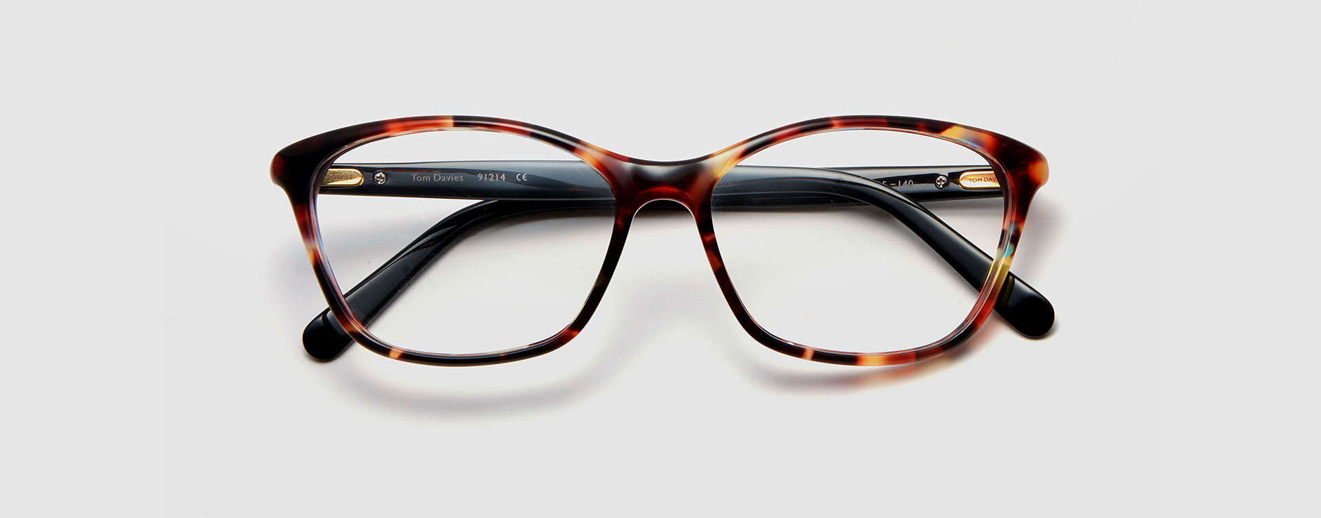 Limited edition acetate frame LE91214 by British eyewear brand Tom Davies